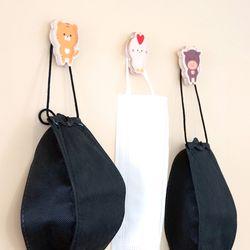 우리가족 띠 우드마그넷 마스크걸이 냉장고 메모자석
