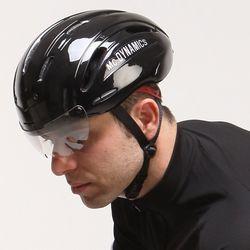 Mc.DYNAMICS 아시안핏 멀티 에어로 자전거헬멧 유광블랙