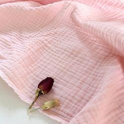 [Fabric] 피그먼트 바이오워싱 거즈 3중지 파르페 핑크