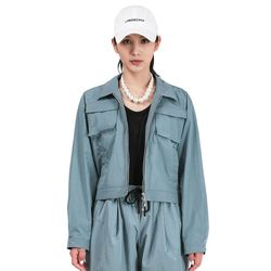 LAMODE OVERFIT SCAR CROP JACKET(CLASSICBLUE)