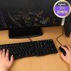 로지텍 코리아 MK100 NEW 유선 키보드 마우스 Set 정품