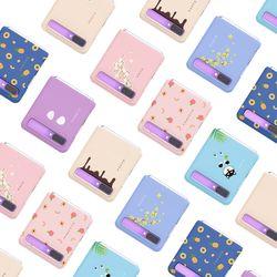 시로앤마로 삼성 Z플립 슬림 하드 케이스 귀여운 시바견 디자인