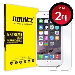 솔츠 아이폰6+ 6s+ 강화유리 방탄 액정보호필름 2매