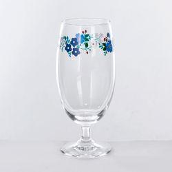 L 빈티지 꽃마리 유리컵 420ml