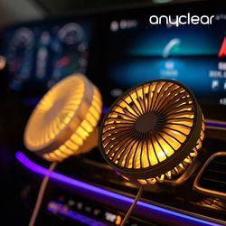 애니클리어 PDB-ACF10 차량용 송풍구 선풍기 에어 쿨링팬 LED