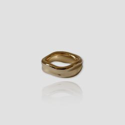 Gold Wave Ring (각인)