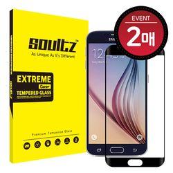 갤럭시 S6 풀커버 강화유리 액정보호필름 (블랙) 2매