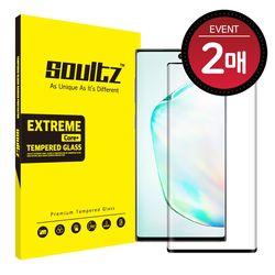 갤럭시노트10+ 풀커버 강화유리 액정보호필름 (블랙) 2매