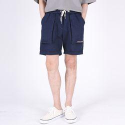 (UNISEX)Denim Vintage Shorts(INDIGO)