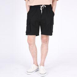 (UNISEX)Mezzo Cargo Shorts(BLACK)