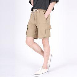(UNISEX)Mezzo Cargo Shorts(BEIGE)