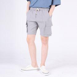 (UNISEX)Mezzo Cargo Shorts(GREY)