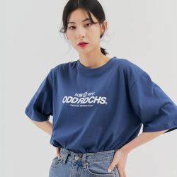 [스티커팩증정] 오드 러디칙스 로고 티셔츠 - DUST BLUE
