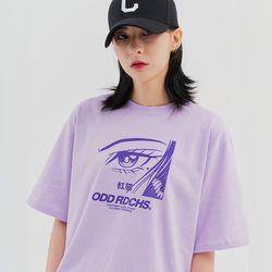 [스티커팩증정] 페이스 티셔츠 - PURPLE