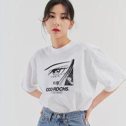 [스티커팩증정] 페이스 티셔츠 - WHITE