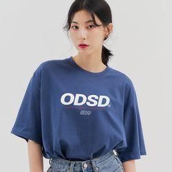 [스티커팩증정] 오드스튜디오 ODSD 로고 티셔츠 - DUST BLUE