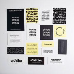 컬레터 스티커팩 black ver.