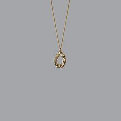 Twisted Bread Stick Necklace (Gold)