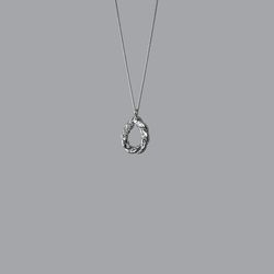 Twisted Bread Stick Necklace (Silver)