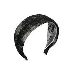 elegant lace hairband (black)