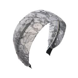 elegant lace hairband (gray)