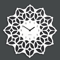 (ktk154)저소음 스페이스 시계(bw)