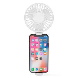 아이정 M-fan 휴대용 손선풍기 탁상형 휴대폰 거치형 화이트