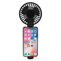 아이정 M-fan 휴대용 손선풍기 탁상형 휴대폰 거치형 블랙