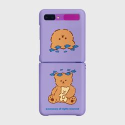 Blue bird bear-purple(Z플립-하드)