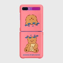 Blue bird bear-pink(Z플립-하드)