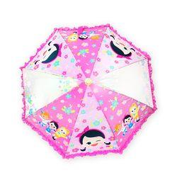 캐리 프릴 연핑크 아동용 우산