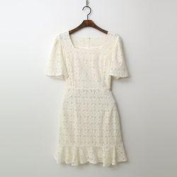 Lace Square Dress