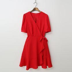 Ruffle Wrap Dress