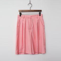 Pintuck Bermuda Shorts