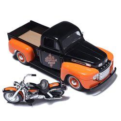 마이스토 픽업트럭 모형과 1:24 할리데이비슨 싸이클 세트