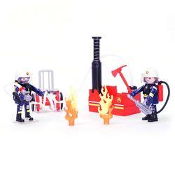 플레이모빌 소방대원과 물펌프 9468