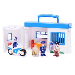 플레이모빌 1.2.3 테이크어롱 경찰서 9382