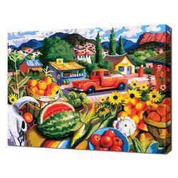 [명화그리기]4050 파라다이스-행복한 마을 28색 정물 풍경화