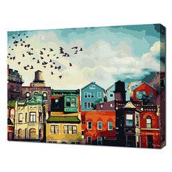 [명화그리기]4050 브루클린 아침 풍경 26색 풍경화