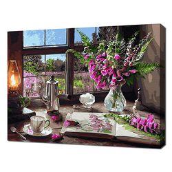 [명화그리기]4050 늦은 오후  앤의 집 창가 풍경 29색 정물화
