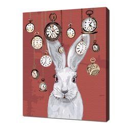 [명화그리기]3040 회중시계 토끼-이상한 나라의 앨리스 16색