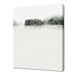 [명화그리기]3040 휴(休)1-한가로운 아침 13색 수묵 풍경화