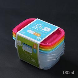 일본 4색 락싱팩 180ml (4P세트) - 직사각