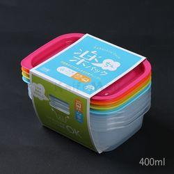 일본 4색 락싱팩 400ml (4P세트) - 직사각