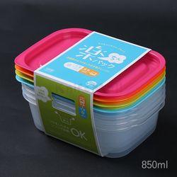 일본 4색 락싱팩 850ml (4P세트) - 직사각