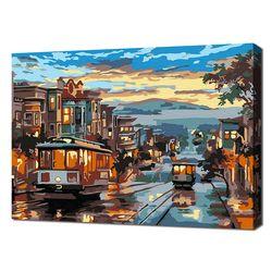 [명화그리기]2030 미니명화-트램이 있는 샌프란시스코 야경 15색