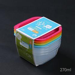 일본 4색 락싱팩 270ml (4P세트) - 정사각