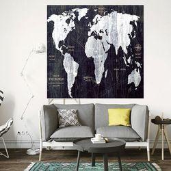 반짝 반짝 별 조명 세계지도 패브릭 포스터 2C타입