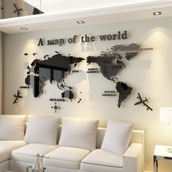 세계 지도 아크릴 벽 스티커