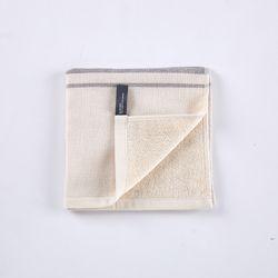 자극없는 거즈테리양면 핸드타월 포인트라인 40x40cm
